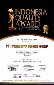 Cekindo Bisnis Grup Indonesia Quality Award