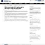 International Accounting Bulletin: 3E Accounting Goes Global
